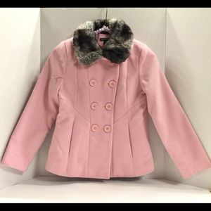 Little Girls' Short Wool Double Breasted Peacoat